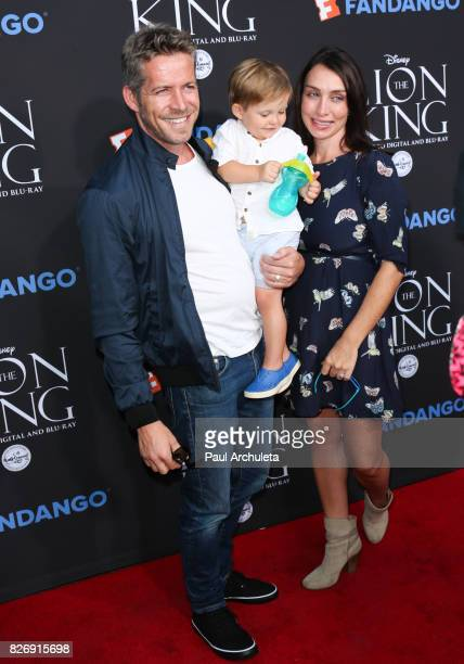 Actor Sean Maguire Flynn Patrick Maguire and Tanya Flynn attend the The Lion King singalong and screening at The Greek Theatre on August 5 2017 in...