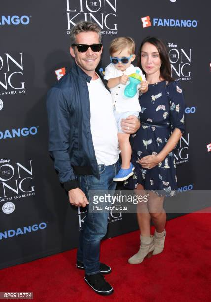 Actor Sean Maguire Flynn Patrick Maguire and Tanya Flynn attend the 'The Lion King' singalong and screening at The Greek Theatre on August 5 2017 in...