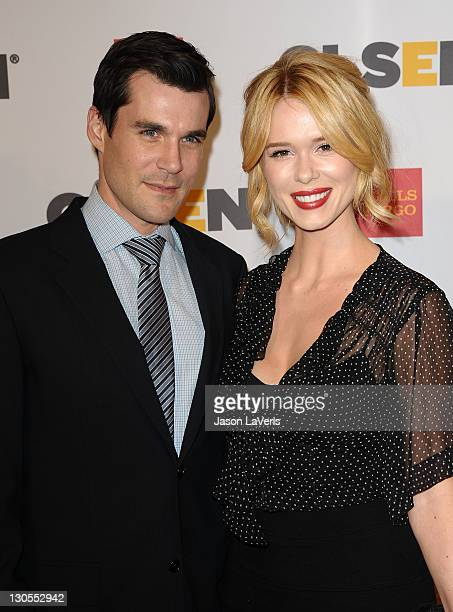 Actor Sean Maher and actress Leah Renee attend the 7th Annual GLSEN Respect Awards at the Beverly Hills Hotel on October 21 2011 in Beverly Hills...
