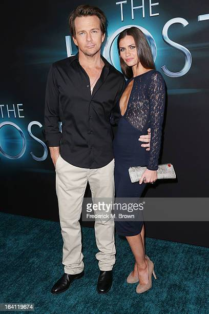 Actor Sean Patrick Flanery and actress Lauren Hill attend the Premiere of Open Roads Films The Host at the ArcLight Cinemas Cinerama Dome on March 19...
