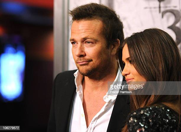 Actor Sean Patrick Flanery and Lauren Michelle Hill arrive at the special Los Angeles friends and family screening of Lionsgate's Saw 3D at the...