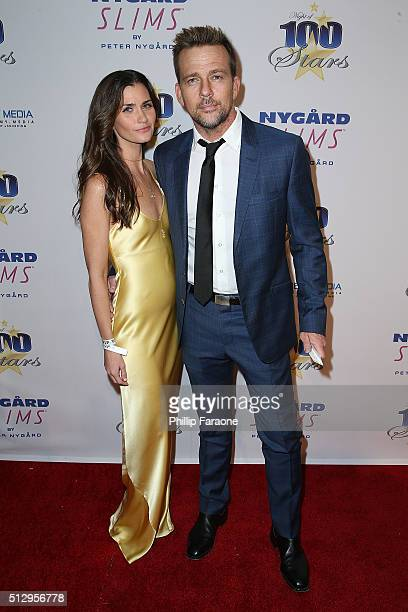 Actor Sean Patrick Flanery and Lauren Michelle Hill attend Norby Walters' 26th Annual Night of 100 Stars Oscar Viewing at The Beverly Hilton Hotel on...