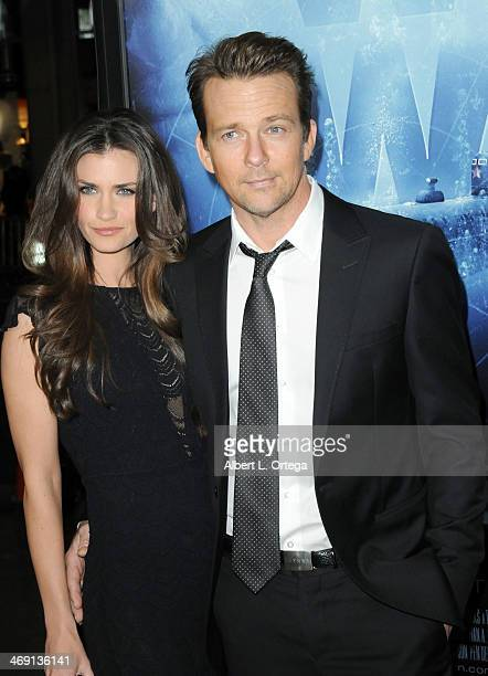 Actor Sean Patrick Flannery and Playboy Playmate Lauren Michelle Hill arrive for the Premiere Of Phantom held at The TCL Chinese Theater on February...
