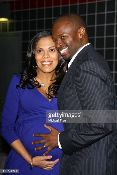Actor Sean Patrick Thomas and wife Aonika Laurent arrive at the Los Angeles premiere of 'A Raisin in the Sun' held at AMC Magic Johnson Theaters on...