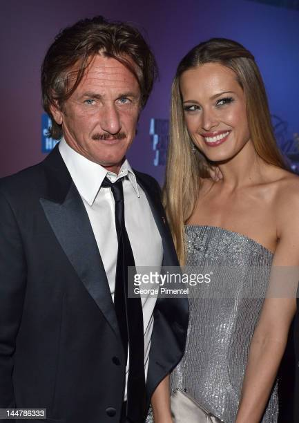 Actor Sean Penn and model Petra Nemcova attend the Haiti Carnival in Cannes Benefitting J/P HRO Artists for Peace and Justice Happy Hearts Fund...