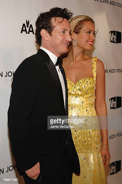 Actor Sean Penn and Model Petra Nemcova attends the 16th Annual Elton John AIDS Foundation Oscar Party at the Pacific Design Center on February 24...