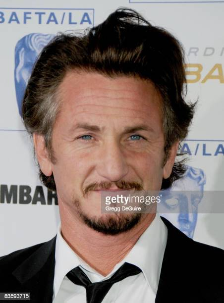 Actor Sean Penn arrives at the 17th Annual BAFTA/LA Britannia Awards at the Hyatt Regency Century Plaza Hotel on November 6 2008 in Century City...