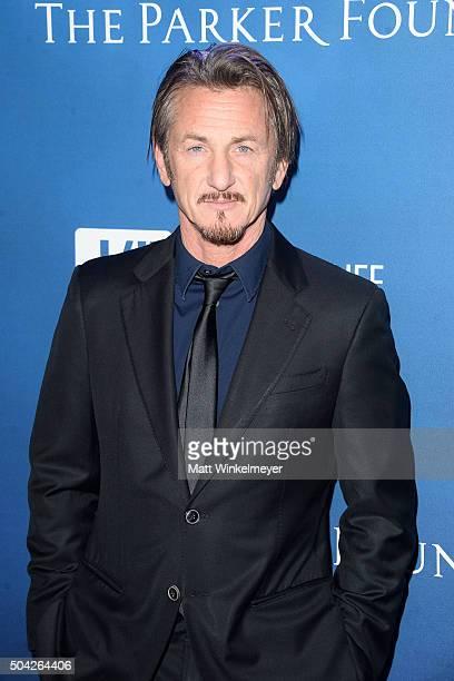Actor Sean Penn arrives at the 5th Annual Sean Penn Friends HELP HAITI HOME Gala benefiting J/P Haitian Relief Organization at Montage Hotel on...