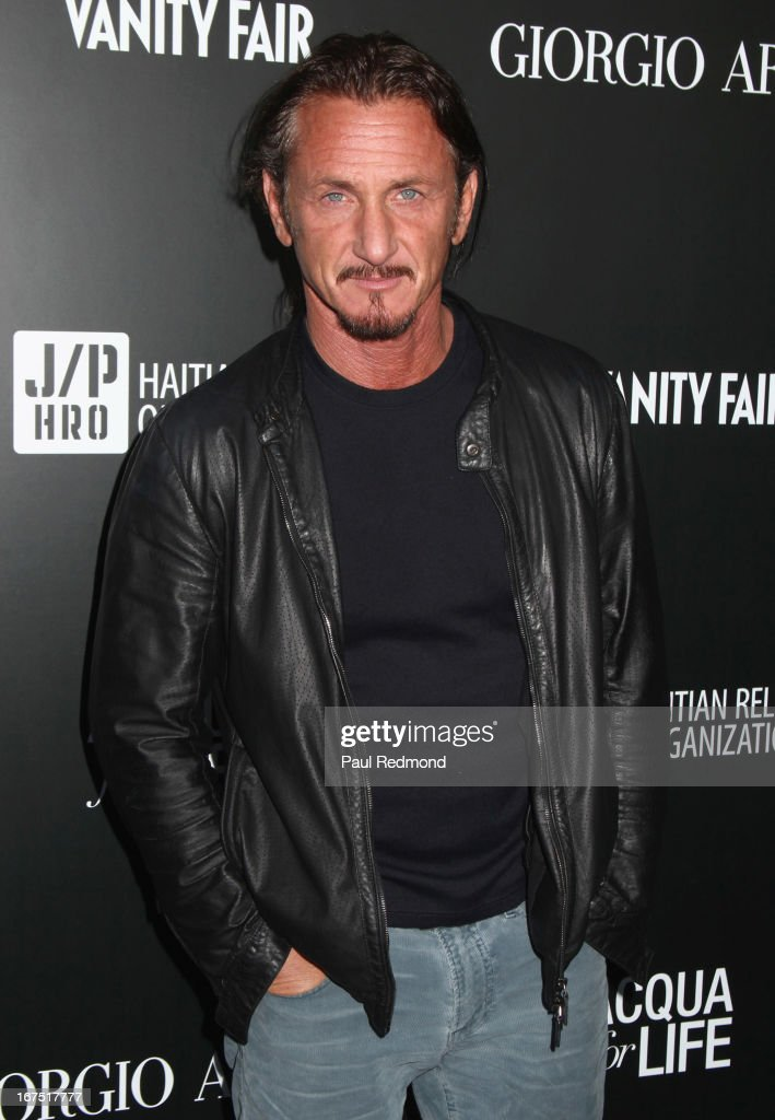 Actor Sean Penn arrives at the Armani party during Paris Photo LA - Opening Night at Paramount Studios on April 25, 2013 in Hollywood, California.