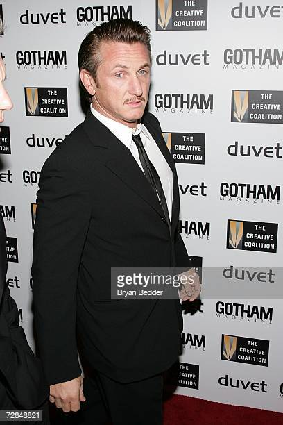 Actor Sean Penn arrives at the Creative Coalition's 2006 spotlight and Christopher Reeves awards gala on December 18 2006 in New York City
