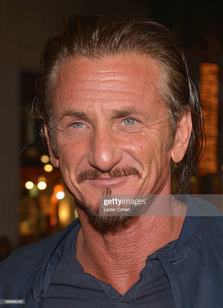 Actor Sean Penn arrives at the 'Gangster Squad' premiere at Grauman's Chinese Theatre on January 7, 2013 in Hollywood, California.