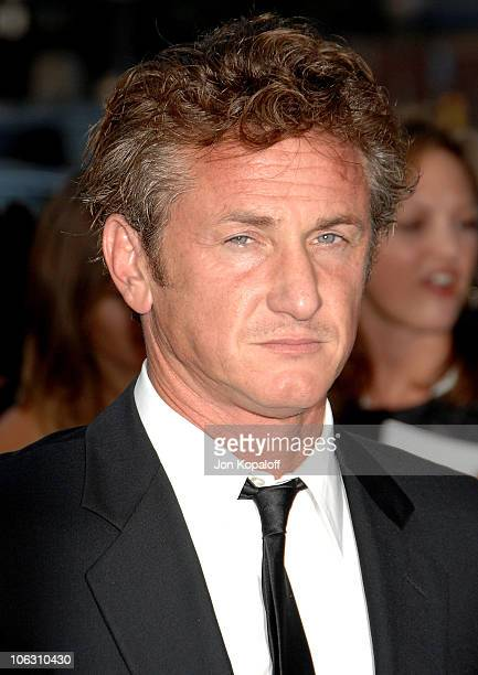 Actor Sean Penn arrives at the Los Angeles Premiere Into The Wild at the Directors Guild of America on September 18 2007 in West Hollywood California