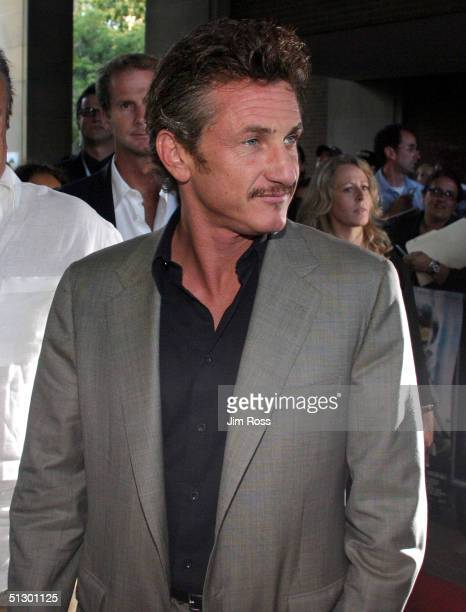 Actor Sean Penn arrives for the Assassination Of Richard Nixon screening at the Ryerson Theatre during the 29th annual Toronto International Film...