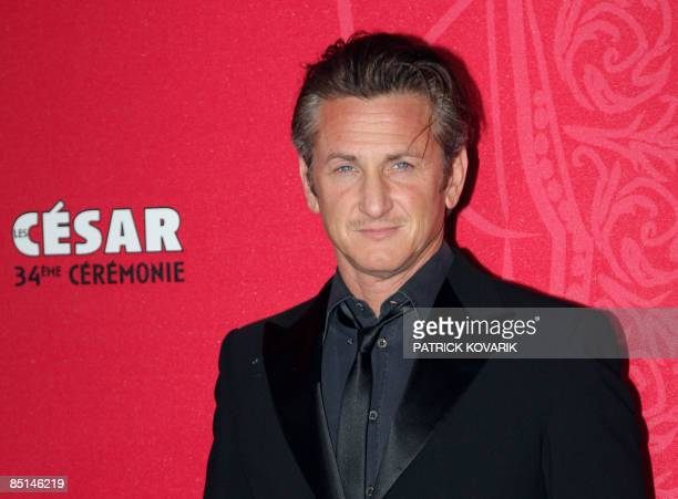 US actor Sean Penn arrives to attend the 34th Cesars French film awards ceremony on February 27 2009 at the Theatre du Chatelet in Paris AFP...