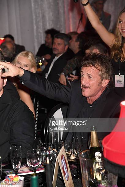 Actor Sean Penn attends Madonna presents An Evening of Music Art Mischief and Performance to benefit Raising Malawi at Faena Forum on December 2 2016...