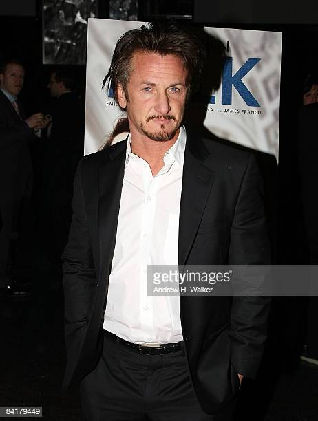 Actor Sean Penn attends the 2008 New York Film Critic's Circle Awards at Strata on January 5 2009 in New York City