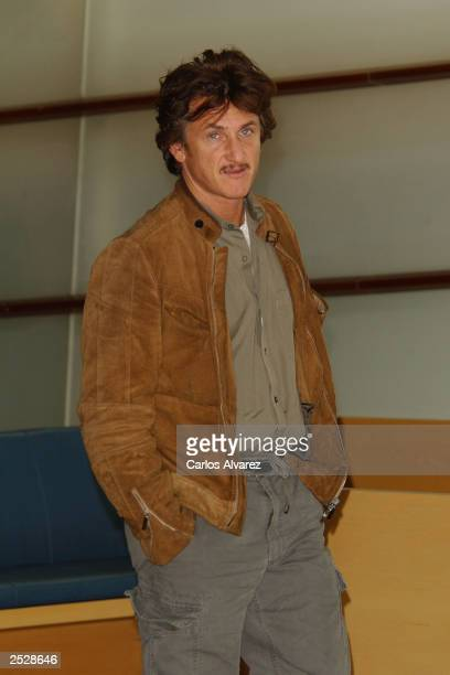 Actor Sean Penn attends the 51st San Sebastian Film Festival at Kursaal Palace September 23, 2003 in San Sebastian, Spain.