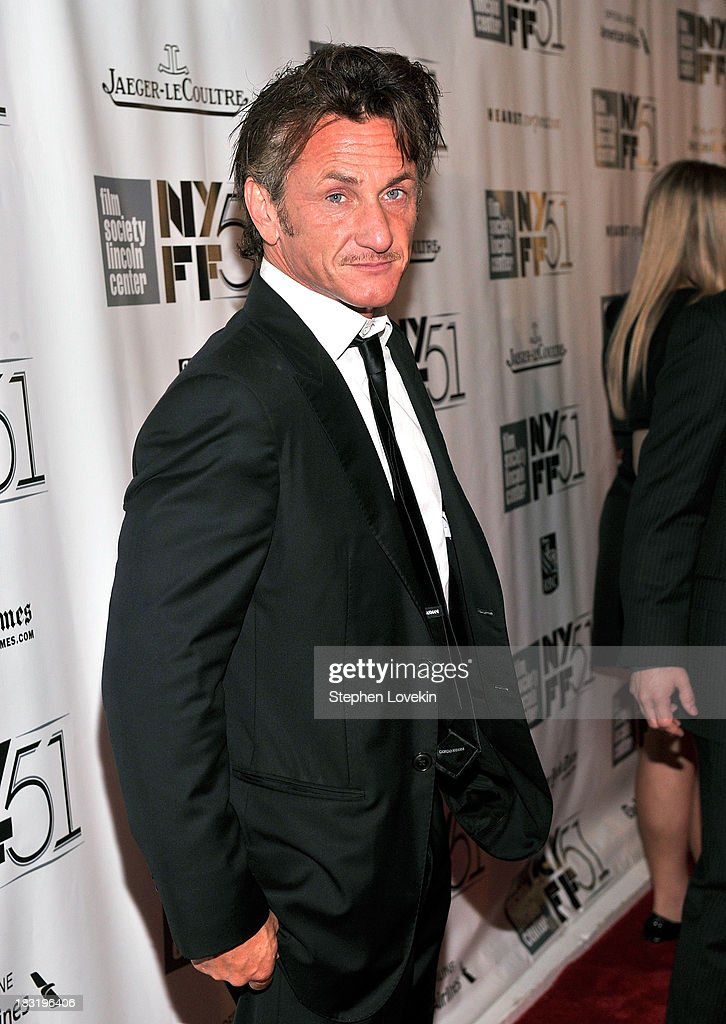 Actor Sean Penn attends the Centerpiece Gala Presentation Of 'The Secret Life Of Walter Mitty' during the 51st New York Film Festival at Alice Tully Hall at Lincoln Center on October 5, 2013 in New York City.