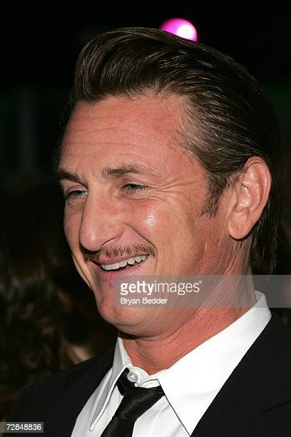 Actor Sean Penn attends the Creative Coalition's 2006 spotlight and Christopher Reeves awards gala on December 18 2006 in New York City