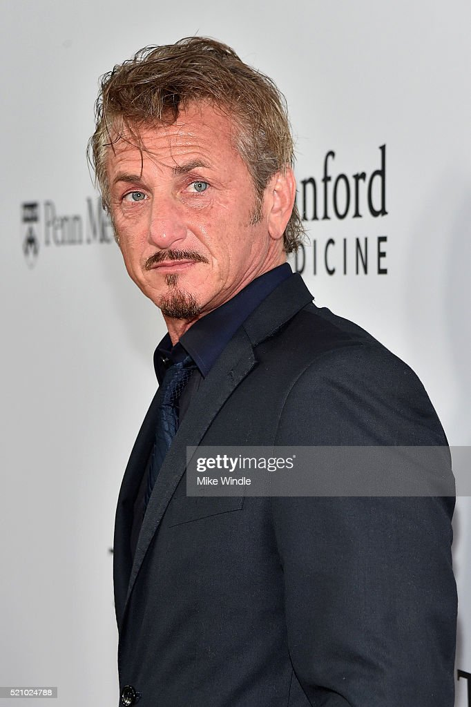 Actor Sean Penn attends the launch of the Parker Institute for Cancer Immunotherapy, an unprecedented collaboration between the country's leading immunologists and cancer centers on April 13, 2016 in Los Angeles, California.