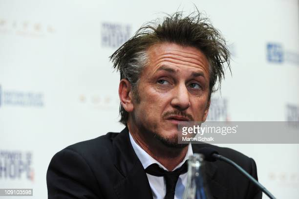 Actor Sean Penn attends the 'Power Of Hope' press concerence at Sofitel Vienna Stephansdom on February 15, 2011 in Vienna, Austria.