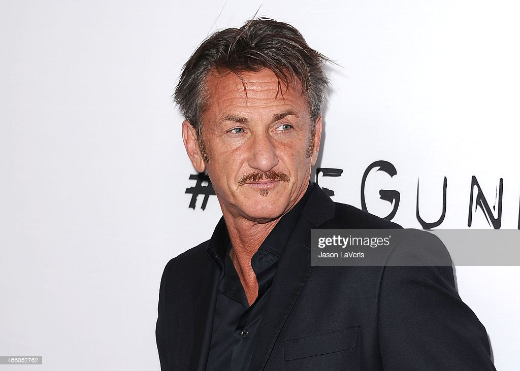Actor Sean Penn attends the premiere of 'The Gunman' at Regal Cinemas L.A. Live on March 12, 2015 in Los Angeles, California.