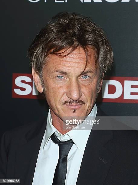 Actor Sean Penn attends the 'Snowden' New York premiere at AMC Loews Lincoln Square on September 13 2016 in New York City