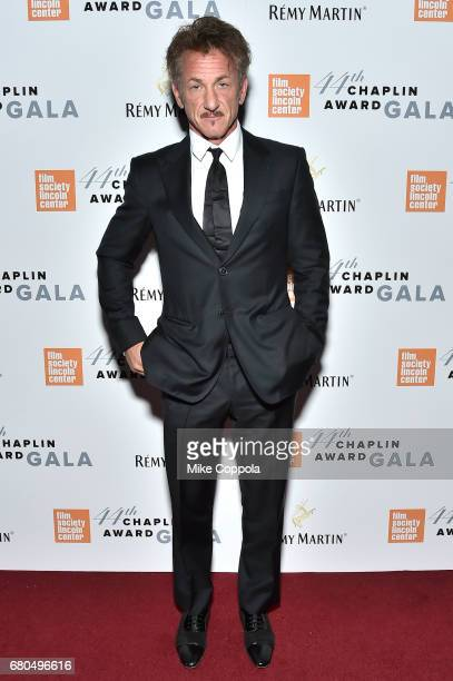 Actor Sean Penn backstage during the 44th Chaplin Award Gala at David H Koch Theater at Lincoln Center on May 8 2017 in New York City