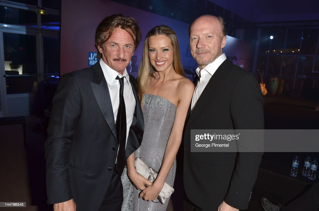 Actor Sean Penn, model Petra Nemcova and director Paul Haggis attend the Haiti Carnival in Cannes Benefitting J/P HRO, Artists for Peace and Justice & Happy Hearts Fund Presented By Armani during the 65th Annual Cannes Film Festival on May 18, 2012 in Cannes, France.