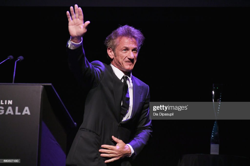 Actor Sean Penn speaks onstage during the 44th Chaplin Award Gala at David H. Koch Theater at Lincoln Center on May 8, 2017 in New York City.