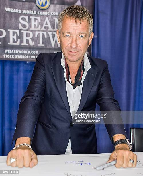 Actor Sean Pertwee attend Wizard World Comic Con Chicago 2015 Day 4 at Donald E Stephens Convention Center on August 23 2015 in Chicago Illinois