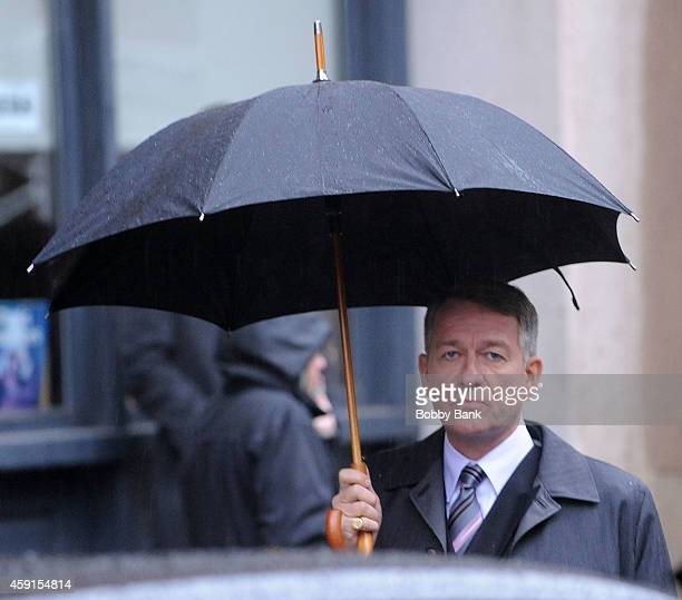 Actor Sean Pertwee who plays 'Alfred Pennyworth' on the set of 'Gotham' on November 17 2014 in New York City