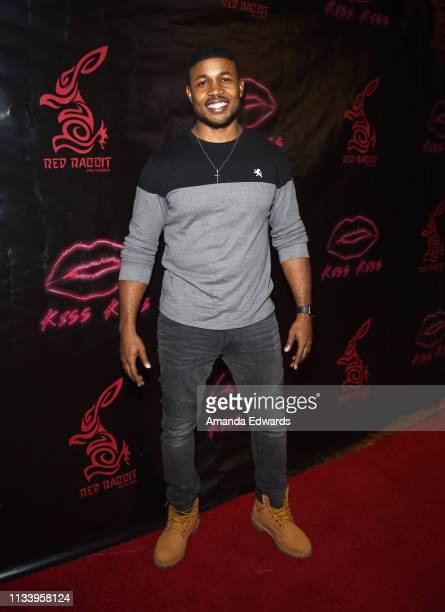 Actor Sean Riggs arrives at the Los Angeles premiere of 'KISS KISS' at the Ahrya Fine Arts Theater by Laemmle on March 05 2019 in Beverly Hills...