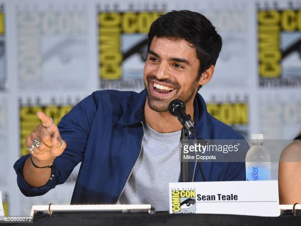 Actor Sean Teale speaks onstage at ComicCon International 2017 'The Gifted' Extended Sneak Peek at San Diego Convention Center on July 21 2017 in San...