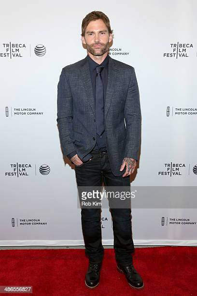 Actor Seann William Scott attends the 'Just Before I Go' Premiere during the 2014 Tribeca Film Festival at the SVA Theater on April 24 2014 in New...