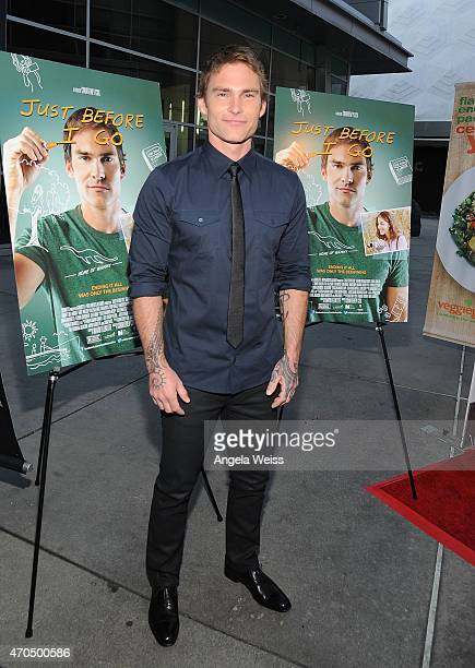 Actor Seann William Scott attends the Los Angeles Special Screening of 'Just Before I Go' at ArcLight Hollywood on April 20 2015 in Hollywood...