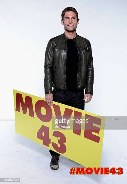 Actor Seann William Scott poses for a portrait during Relativity Media's 'Movie 43' Los Angeles premiere at TCL Chinese Theatre on January 23 2013 in...
