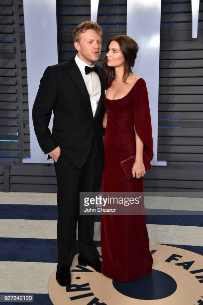 Actor Sebastian BearMcClard and actress Emily Ratajkowski attend the 2018 Vanity Fair Oscar Party hosted by Radhika Jones at Wallis Annenberg Center...
