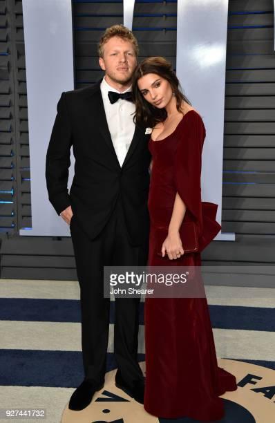 Actor Sebastian BearMcClard and model Emily Ratajkowski attend the 2018 Vanity Fair Oscar Party hosted by Radhika Jones at Wallis Annenberg Center...