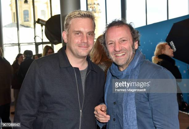 Actor Sebastian Bezzel and Max Schmidt during the BR Film Brunch at Literaturhaus on January 19 2018 in Munich Germany
