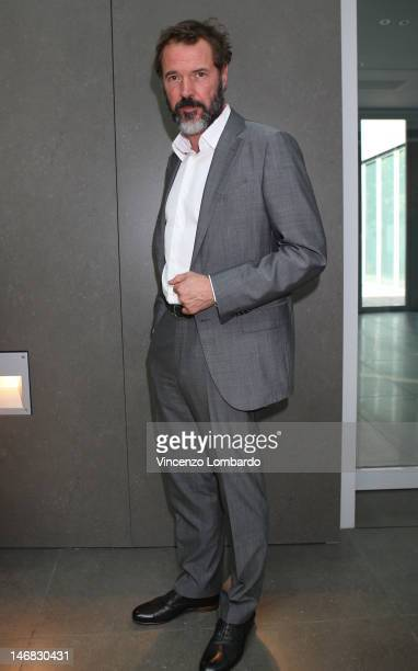 Actor Sebastian Koch attends the Ermenegildo Zegna show as part of Milan Fashion Week Menswear Spring/Summer 2013 on June 23 2012 in Milan Italy