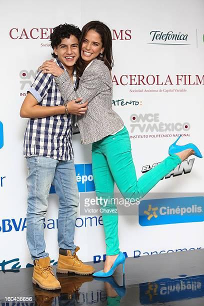 Actor Sebastian Rivera and actress Ana Claudia Talancon attend a press conference to promote the film El Sueno De Ivan at Centro De Experiencia...