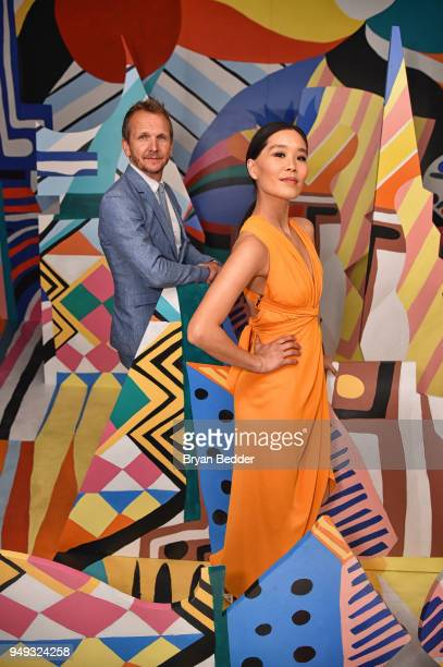 Actor Sebastian Roche and Alicia Hannah attend the National Geographic Genius Picasso Tribeca Film Festival after party at The Genius Studio 100...