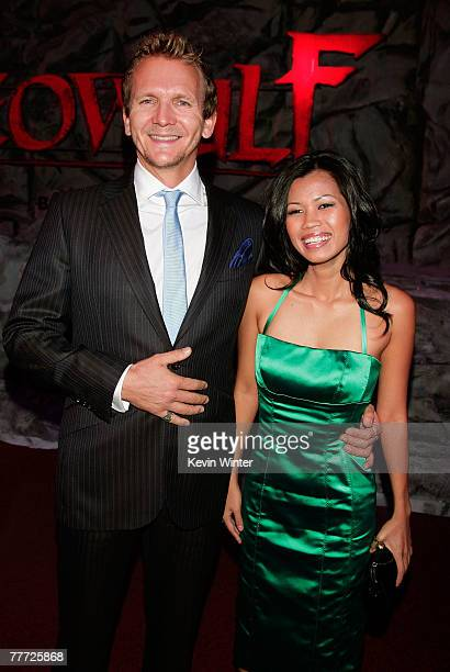 Actor Sebastian Roche and guest arrive at the premiere of Paramount Pictures' Beowulf at the Westwood Village Theatre on November 5 2007 in Los...