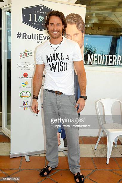 Actor Sebastian Rulli meets his fans during #rulllievento event at Onceyonce Restobar on September 6 2014 in Marbella Spain
