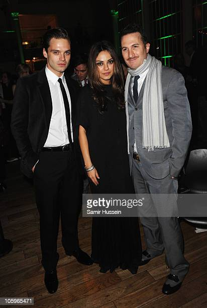 Actor Sebastian Stan actress Mila Kunis and director Darren Aronofsky and attend the 'Black Swan' afterparty during the 54th BFI London Film Festival...