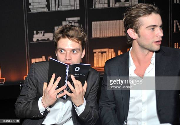 Actor Sebastian Stan and actor Chace Crawford attend the Bvlgari private event honoring Simon Fuller and Paul Haggis to benefit Save The Children and...