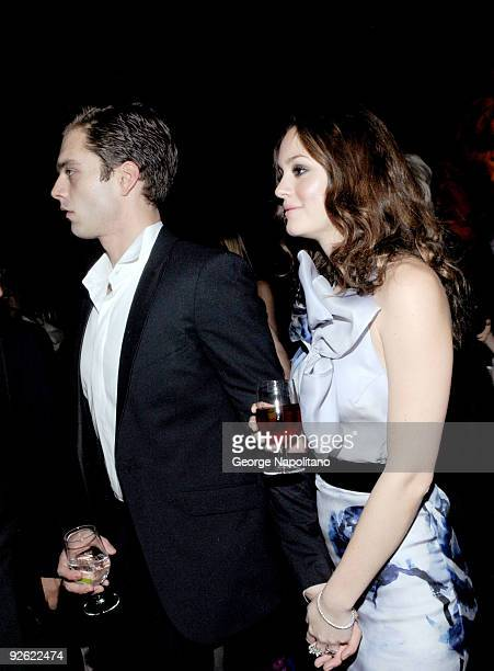 Actor Sebastian Stan and actress Leighton Meester attend the 2009 Library Lions Benefit at the New York Public Library A Schwartzman Building on...