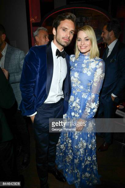 Actor Sebastian Stan and Actress Margot Robbie attend I Tonya After Party Hosted by Hugo Boss at Montecito Restaurant on September 8 2017 in Toronto...