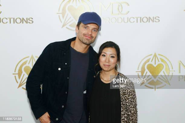 Actor Sebastian Stan and Meagan Celeste attend the MDC Productions' 3rd Annual Face Off to Fight Cancer at the Sky Rink at Chelsea Piers on October...